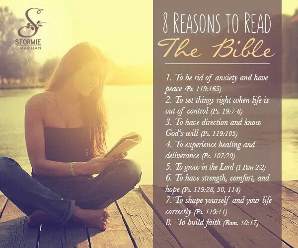 8 reasons to read the Bible Stormie Omartian