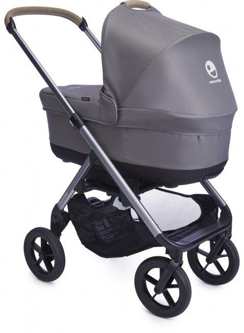Easywalker Mosey+ Kinderwagen mit Babywanne Pebble Grey - Kleine Fabriek. Mehr Infos auf https://www.kleinefabriek.com/.