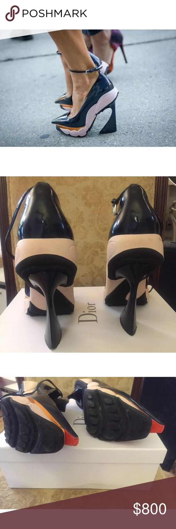 Dior Runway Fusion Raf Heels Pumps 37 US 6.5 7 Christian Dior navy patent runway heels size 37 will fit a 6.5 / 7 brand new never worn Christian Dior Shoes Heels