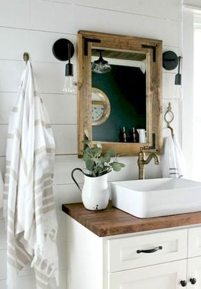 """I love a raised edge sink not just for the style but for function. I have a very """"splashy"""" husband and kids and its nice to have a higher edge to contain the splash."""