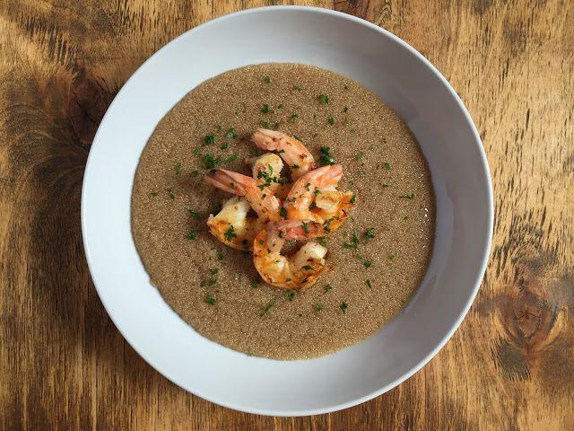 Amaranth Porridge with Shrimps // Porridge di amaranto con gamberetti