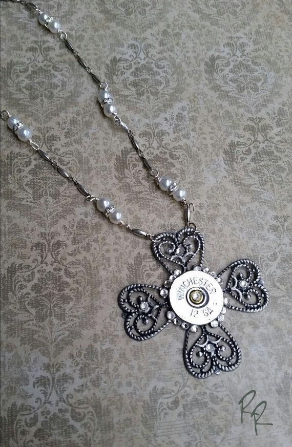 Shotgun Bullet Casing Necklace Ammo Jewelry by RepurposedRelicsTX #CraftShout