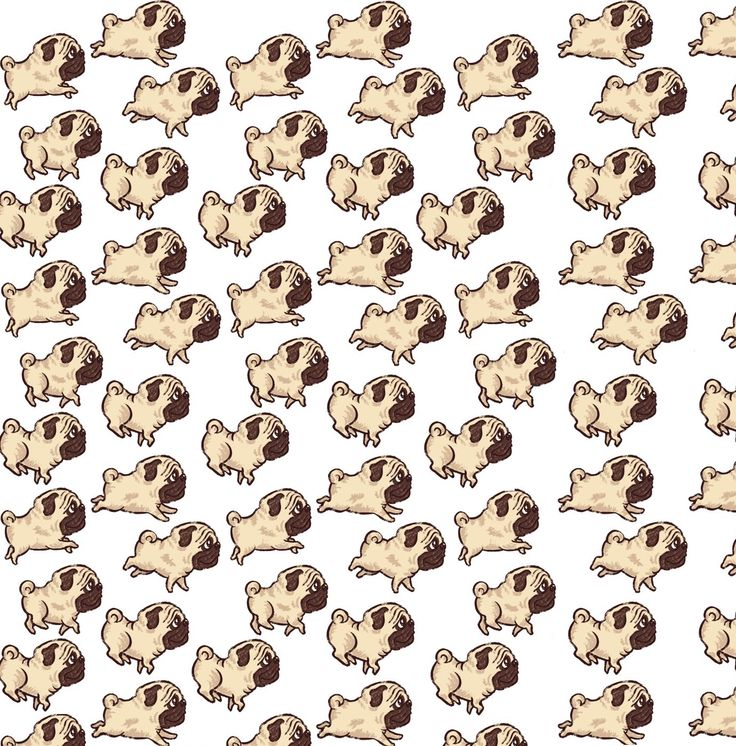 Use this pattern to make a cute Pug Background for your