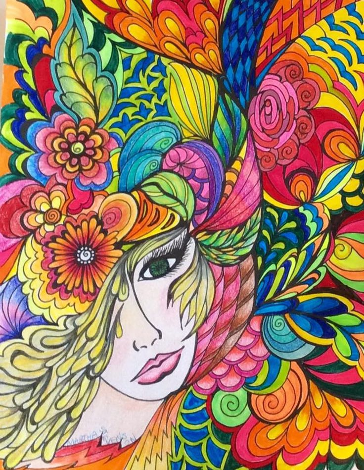 Flower Child - Art by Martha Stevenson, click on link to see her work.
