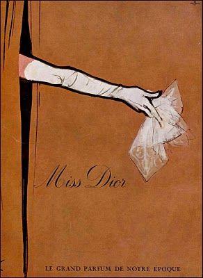 vintage Christian Dior perfume ads