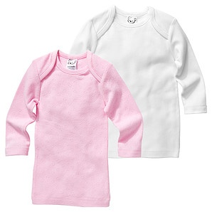 2 Pack Of Infant Girls' Cotton  Thermal Spencers - White/Pink