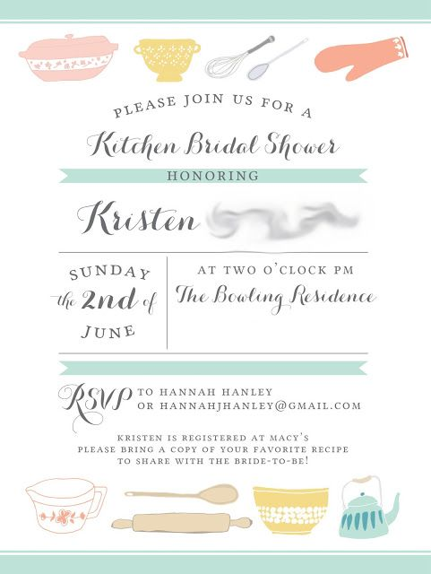 Cooking or Kitchen Themed Bridal Shower Inspiration - Aisle Perfect