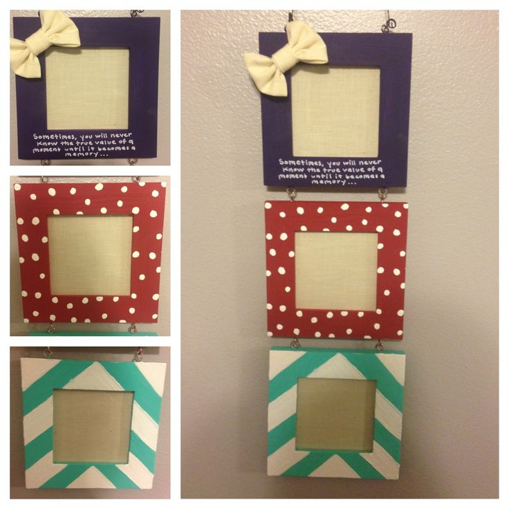 Diy Picture Frame Cute Diy Crafts Pinterest