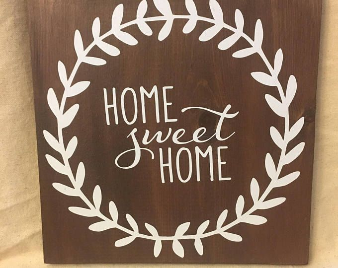 Home Sweet Wood Sign Wooden Rustic