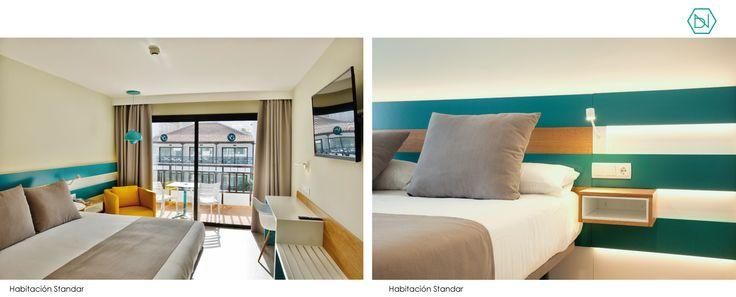 Habitacion standard. Azul. Reforma Hotel Vanilla Garden. Tenerife  Blue standard room. Refurbishment Vanilla Garden Hotel. Tenerife  www.bn-arquitectos.com #Hotel #refurbishment #reforma #arquitectos #interiorismo #diseñodeinteriores #interiores #tropical #blue  #tenerife #bnarquitectos