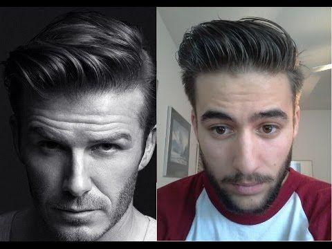 David Beckham H&M Inspired Hairstyle - How to style tutorial - Hanz de F...  NICE ass men's hair. And the dude'd be hot if he'd shave.--LE