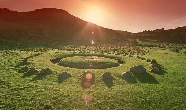 In local folklore the site is linked with Fairies, witches and elves and the locals call it the Fairy Ring.
