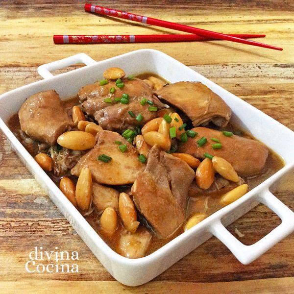 Esta receta de pollo agridulce con almendras tiene toques asiáticos, muchos aromas y un sabor especial. Es facilísima y rápida de preparar.