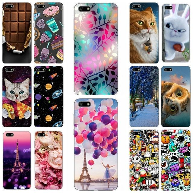For Huawei Y6 2018 Case 5 7 Y5 Prime 2018 Cases 5 45 Printing Soft Silicone Phone Shell For Huawei Y 5 6 2018 Fundas Coque Bag Phone Shell Soft Silicone Case