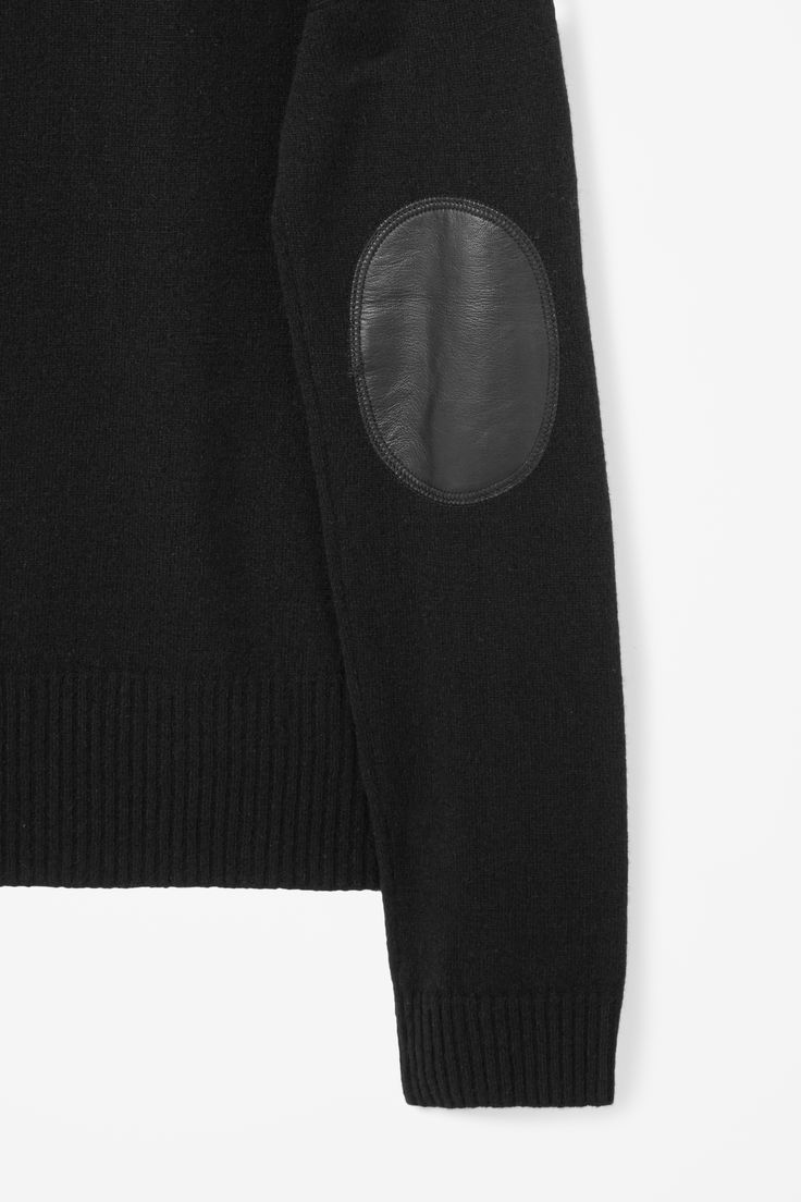 Leather elbow jumper