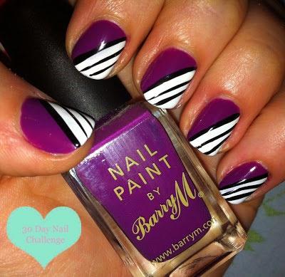 Fun and purple nail design!