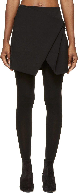 Dion Lee - Black Compact Stretch Saddle Mini Skirt