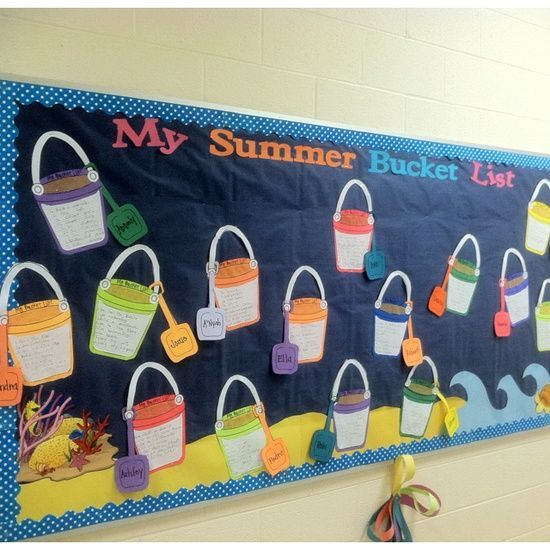 "End of year bulletin boards | ... Door Decoration - ""Summer Bucket List"""