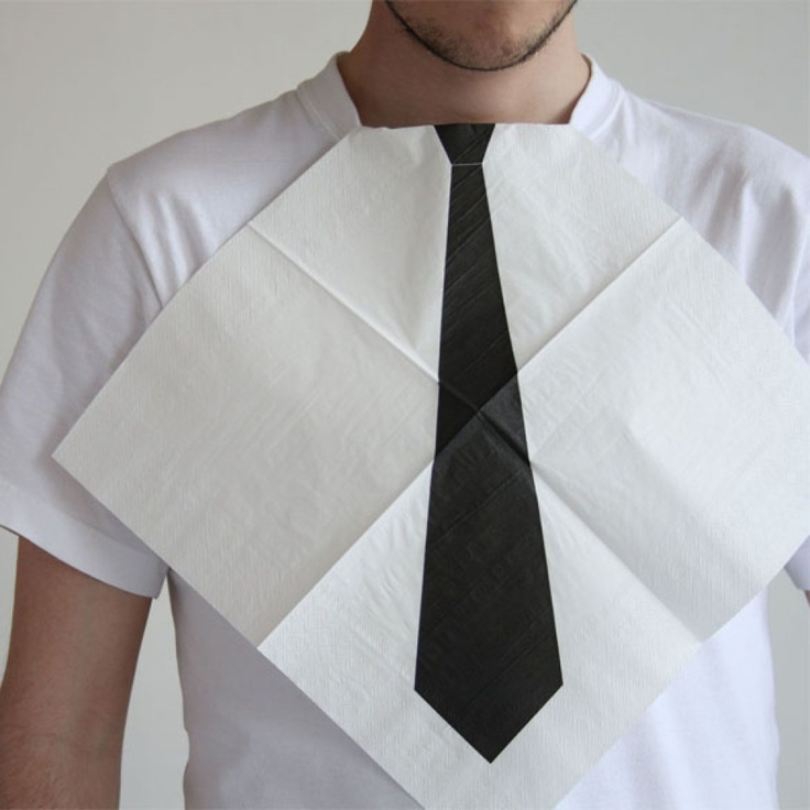 Dress for Dinner Necktie Napkins: Dinners Party, Like A Sir, Dresses, Ties, Weddings Receptions, Funnies Products, Bibs, Products Design, Dinners Napkins