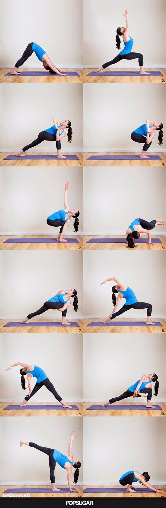 """Burning-Thighs Yoga Sequence: Your Shorts Will Say, """"More Please!"""""""