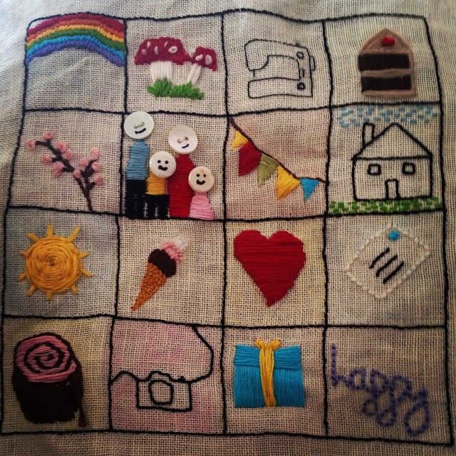 Yay finished my #happystitching #embroidery @amykpowers I started this in the first #stitchalong