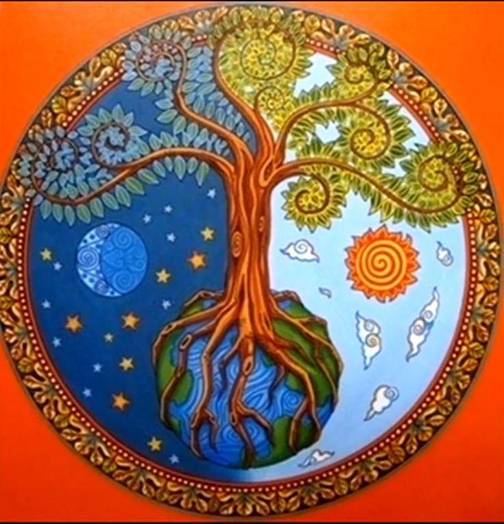 ➳➳➳☮ American Hippie Art - Tree of Life Mandala