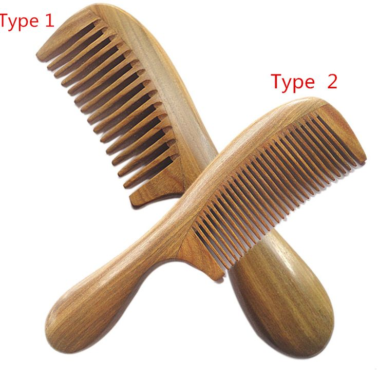 Handicraft Wooden Round Handle Sandal Hair Combs Natural Sandalwood Fine Comb Anti-Static Care