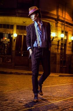 Elegant tango suit from  Astor Querido, a  Buenos Aires  tango clothing shop for men.