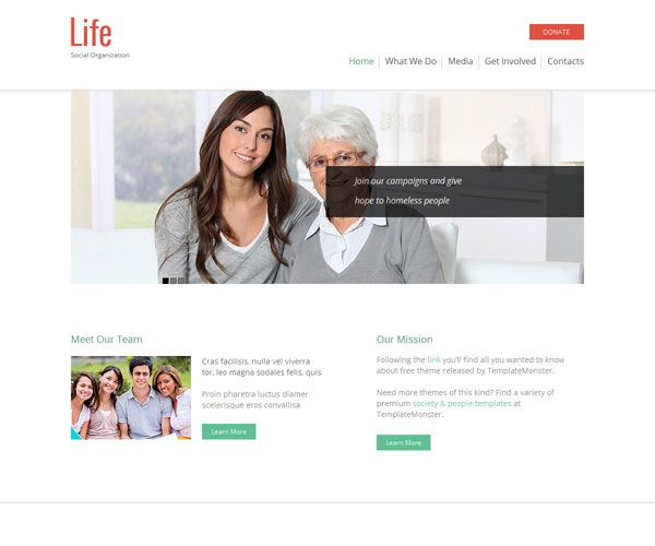 8 Free Charity Html Website Templates Template Collections Pinterest And