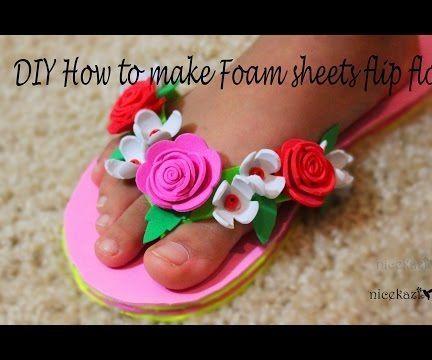 DIY How to Make Foam Sheets Flip Flops: Foam Sheet Crafts
