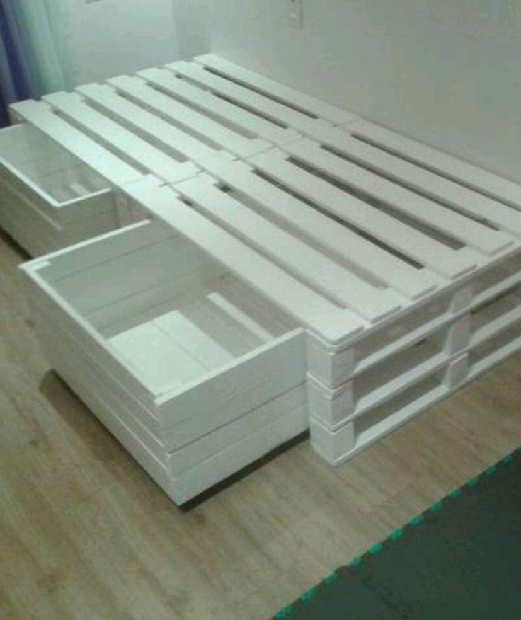 cama de solteiro de pallets - outros moveis sabino