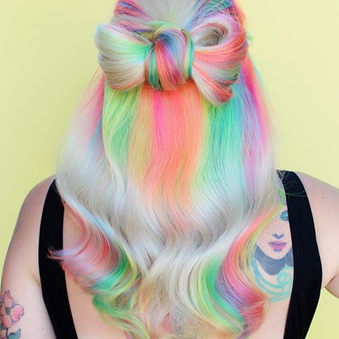 ✨Neon RainBOW✨ I created this look using the new @pulpriothair neons! The placement was inspired by @uggoff rainbow root to end placement #neonelectric5000 .  .  . .  .  .  #behindthechair #modernsalon #americansalon #notchstl #stl #stlouis #thegrovestl #grovestl #hairstl #stlhair #hairstlouis #stlouishairstylist #hairstyliststlouis #anthonythebarber916 #authentichairarmy  #esteticausa #imallaboutdahair #licensedtocreate #cosmoprof #fiidnt #brazilianbondbuilder #colortrak #pulpriot  #uni...