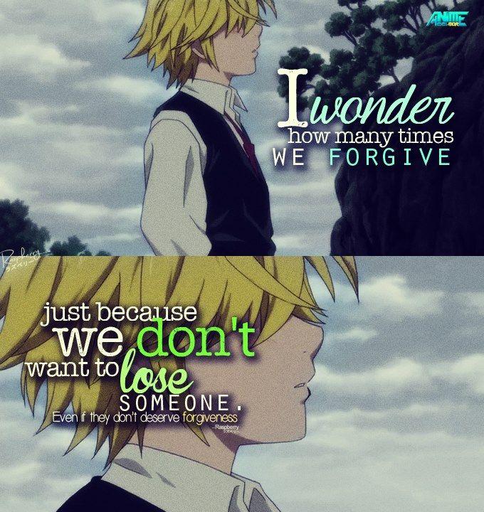 """""""Mi chiedo quante volte ci perdoniamo solo perché non vogliamo perdere qualcuno, anche se non meritano di essere perdonati""""."""