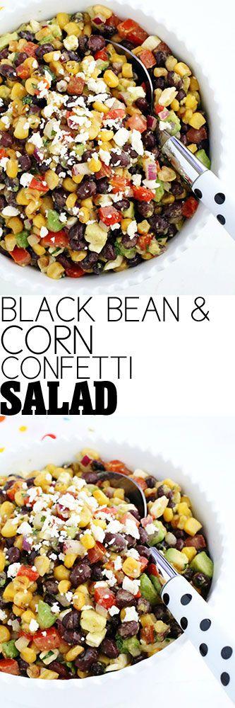 Black Bean and Corn Confetti Salad #salad #healthy