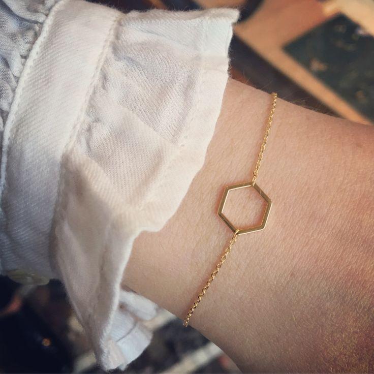 Armband goud open honingraat