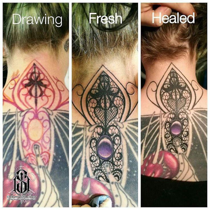 Fun freehand lace cover-up/gap-filler done a while back using @worldfamousink #worldfamousink #worldfamousinks #ringmasterirons #dynamicblackink #tattooartist #tattooartistmagazine