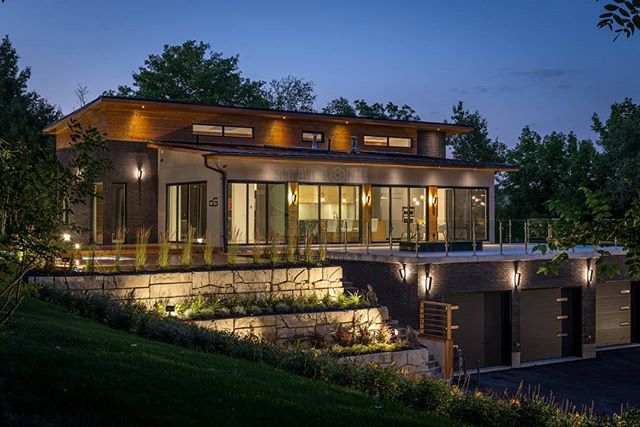 One of my most fav twilight shots was this beauty @designgenerationhomes Designed by @carlo_rinomato and now on the market. #woodbridge #houseofthehill #twilightphotography #stallonemedia #luxuryhomes #customhome