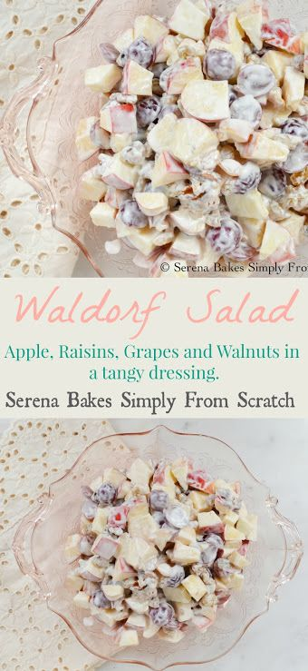 Lightened Waldorf Salad is a classic for potlucks, barbecues and picnics.