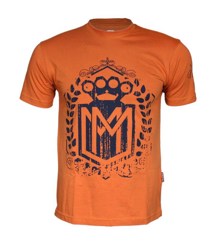 Koszulka 'Logo' pomarańczowa - przód ---> Streetwear shop: odzież uliczna, kibicowska i patriotyczna / Przepnij Pina!
