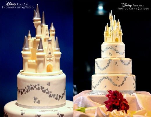 I wish that I could have my wedding at Disney. Beautiful cake toppers!