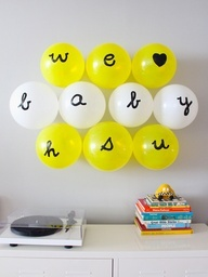 baby shower diy decorations | balloon display | The Indigo Bunting: A Dumpling Baby Shower