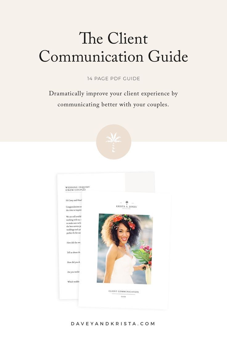 The Client Communication Guide Pdf Davey Krista Creative Business Owner Creative Small Business Wedding Questionnaire