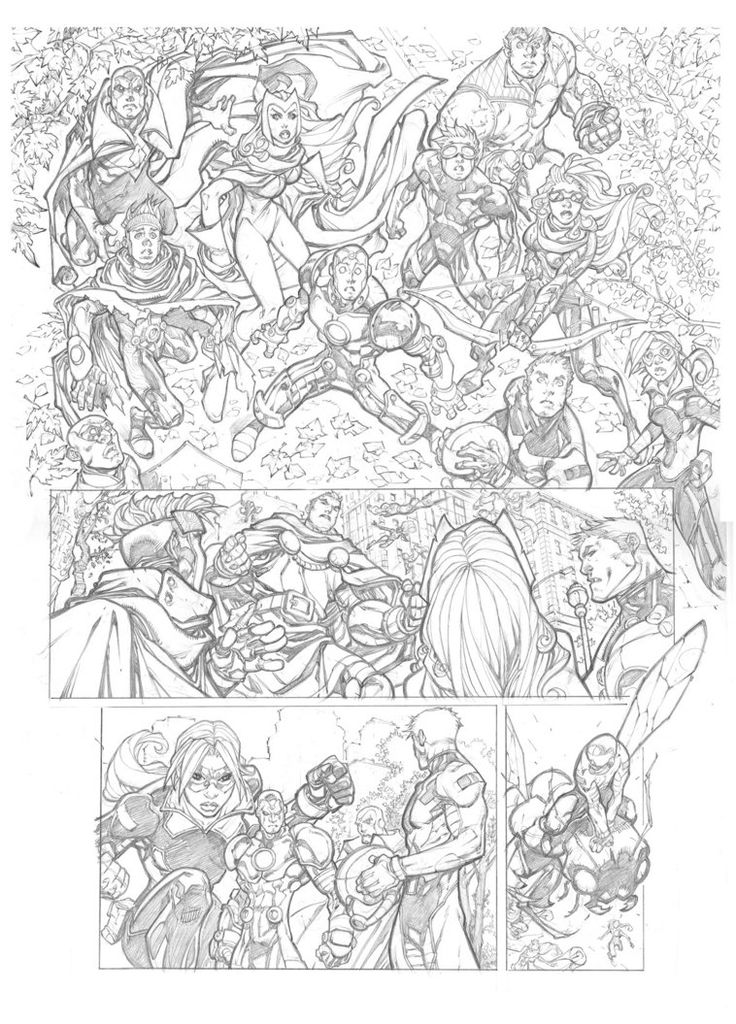 Young Avengers Sample page 1 by mikebowden on DeviantArt