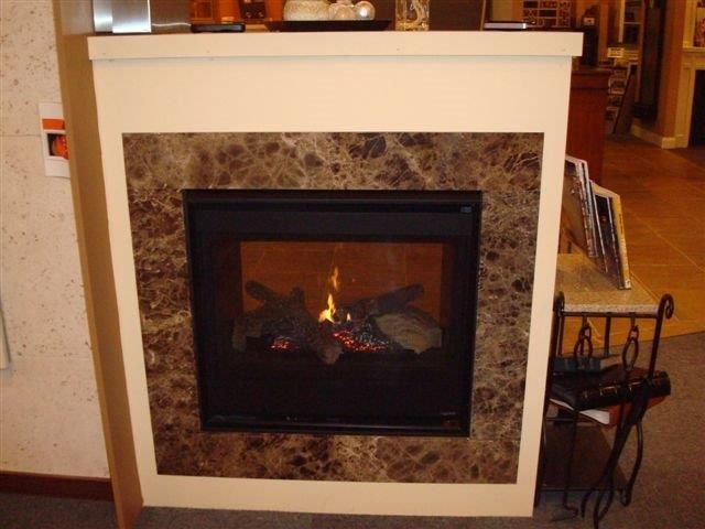 Heatilator See-Thru Direct Vent Gas Fireplace with Custom Cabinet ...