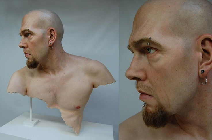 Another hyper-realistic sculpture by Jamie Salmon - Chris13