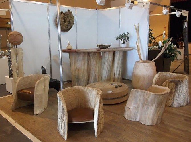 1000 id es sur le th me meubles en rondins sur pinterest for Table basse rondin de bois