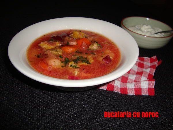 Bors rusesc de carne si sfecla rosie- Bucataria cu noroc