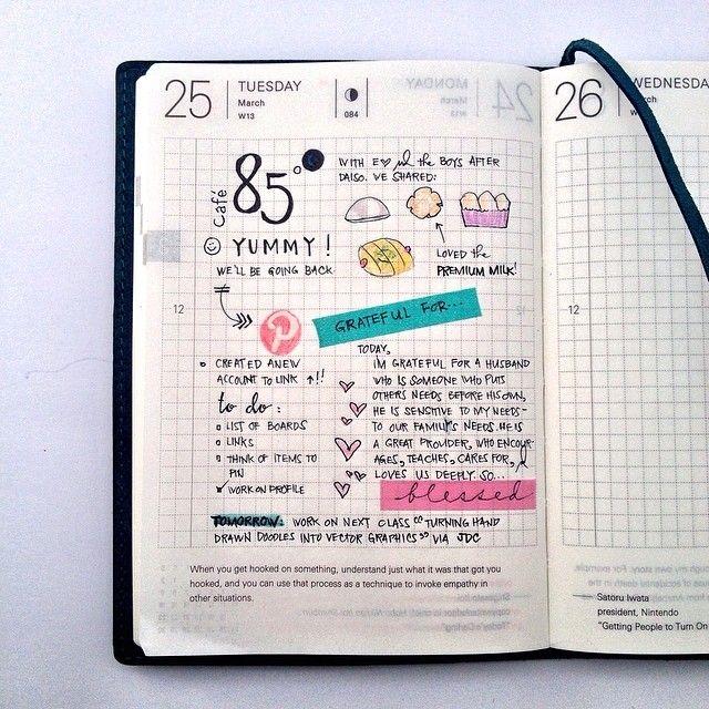 Procura-se agenda 2015 com página igual a essa. (quadriculada e com pensamentos em baixo)