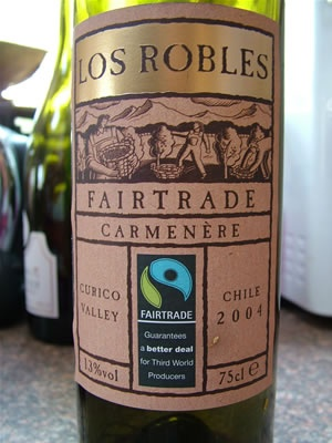 fair trade wine from Chile