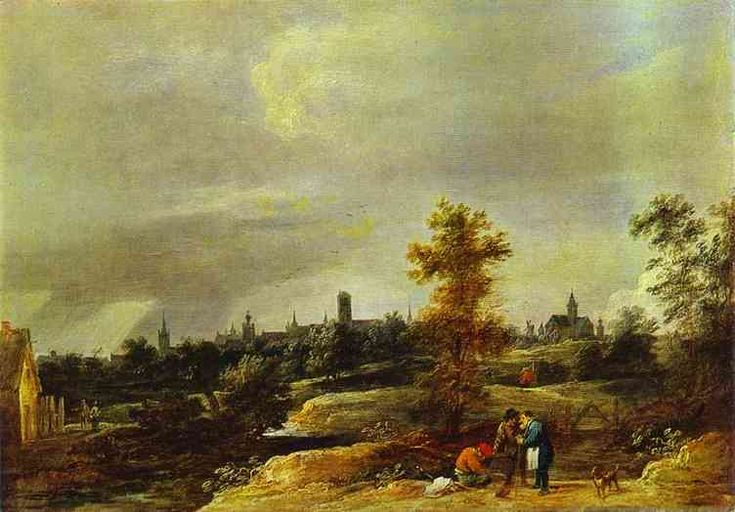 "Давид Тенирс Младший. ""Вид окрестностей Брюсселя"" Эрмитаж Год: Начало 1650-х"